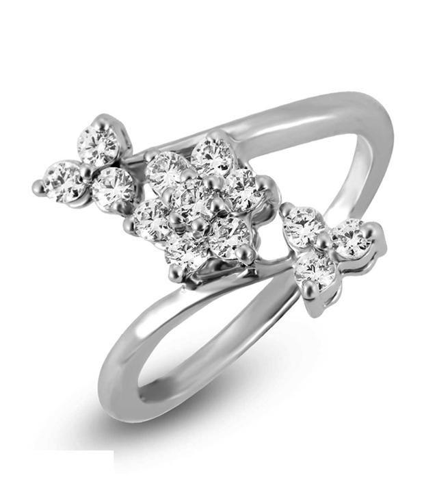Shashvat Jewels 18kt Cluster Floral Ring Sjr1013-18k-08