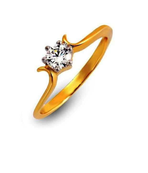 Shashvat Jewels 18kt Promise Twist Solitaire Ring Sjr1281-09k-13