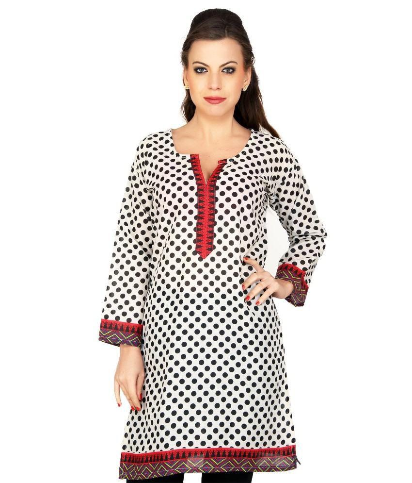 Cenizas 3/4 Sleeve Upstyle Cotton Kurti For Beautiful She