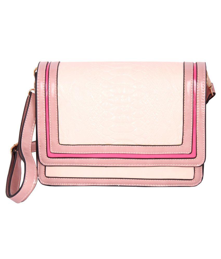 Esbeda ESB0346PINK Pink Sling Bags