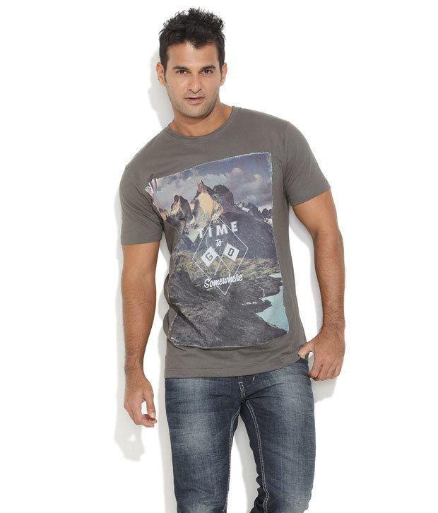 Ferrous Gray Cotton T-shirt