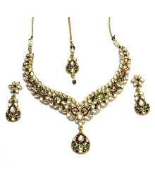 I Jewels Ethnic Collection Gold Plated Elegantly Hand Crafted Kundan Sets For Women