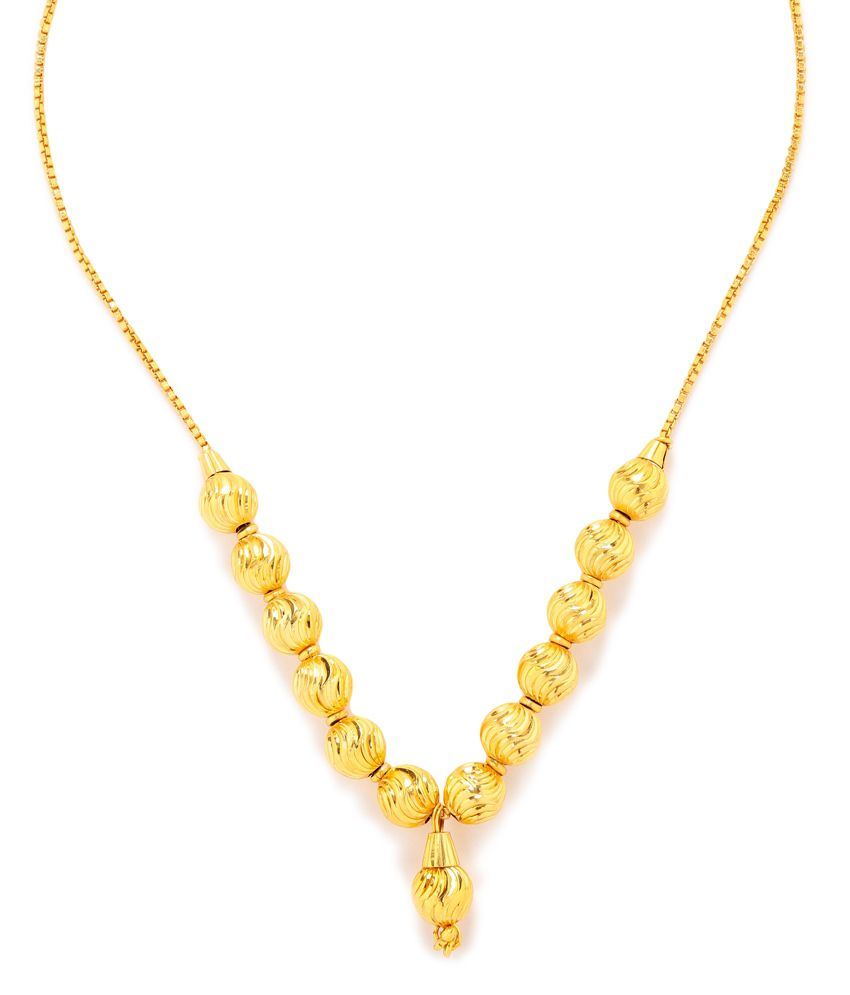 Gold plated Auspicious Ethnic Mangalsutra by GoldNera
