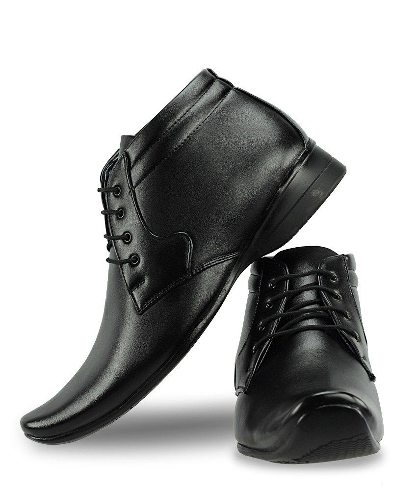 Office Gear Black Formal Shoes