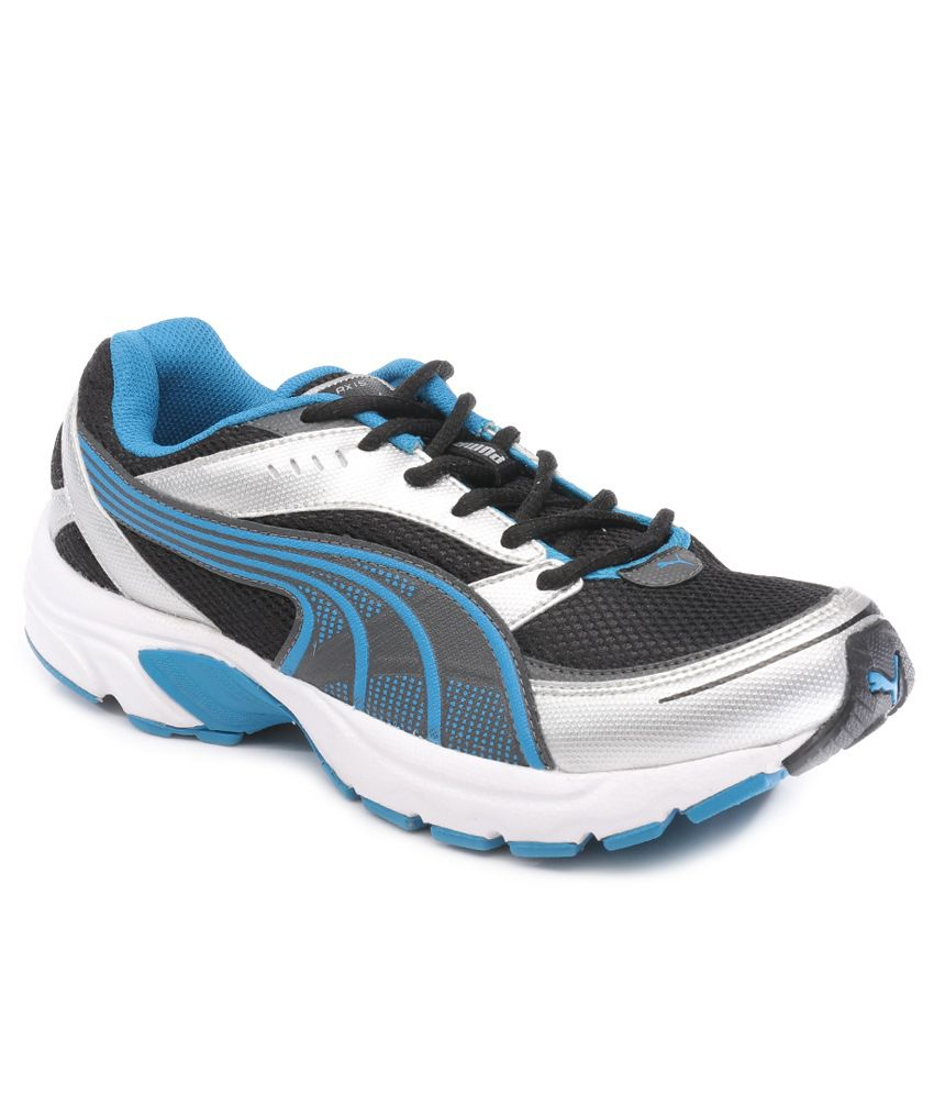 Puma Black And Blue Axis Iii Ind Running Shoes