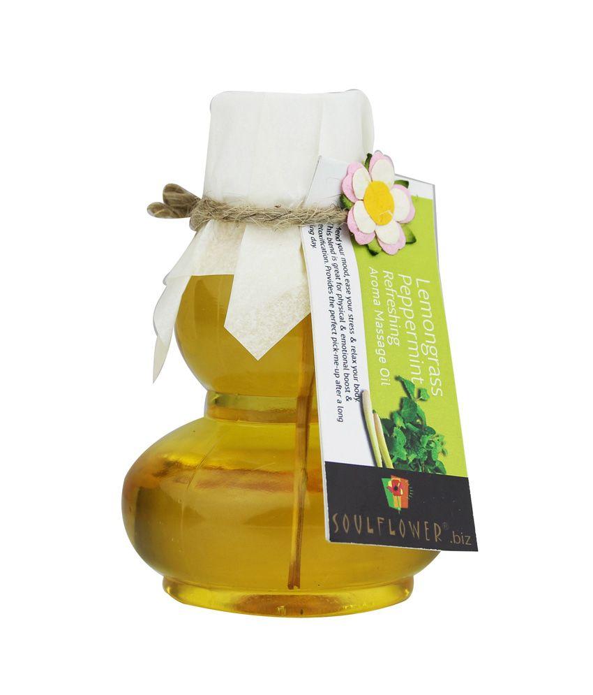 Soulflower Refreshing Aroma Massage Oil 90 ml