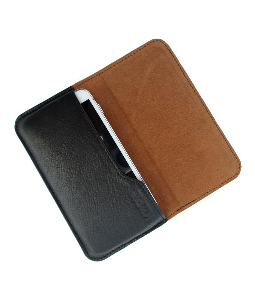 Ikitpit Genuine Leather Flip Pouch Case Cover For Spice Coolpad 2