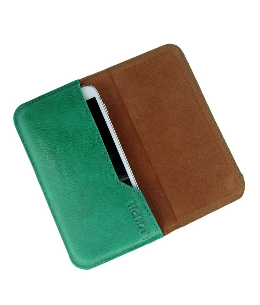 Ikitpit Genuine Leather Flip Pouch Case Cover For Iball Andi 5t Cobalt 2
