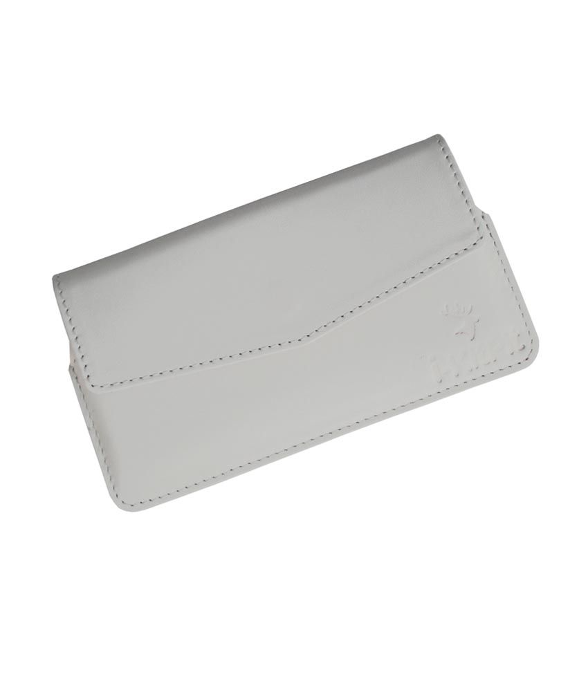 Ikitpit Genuine Leather Pouch Case Cover For Micromax Canvas Magnus A117