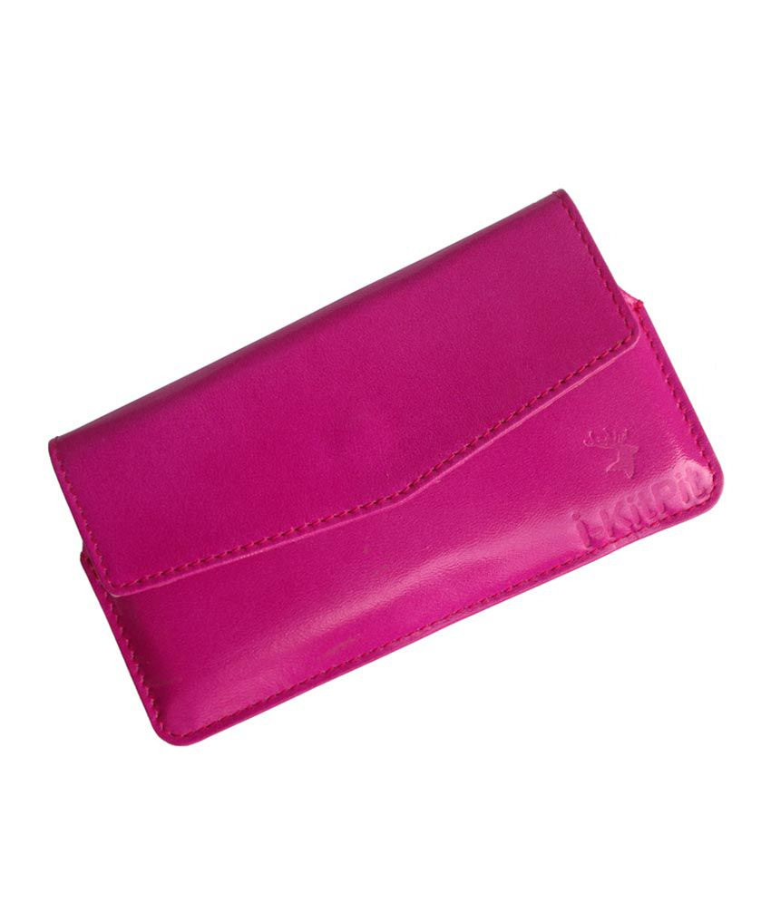 Ikitpit Genuine Leather Pouch Case Cover For Maxx Msd7 3g Ax45