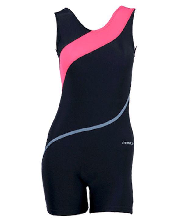 Women Swimwear - Legging - Front Cross Patch & Folder/ Swimming Costume