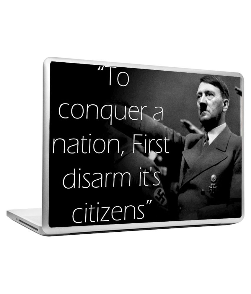 Headturnerz Hitler Quote On Conquering Laptop Skins