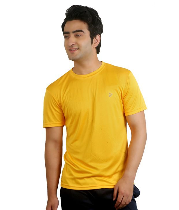 Nitrite Yellow Polyester  T-Shirt
