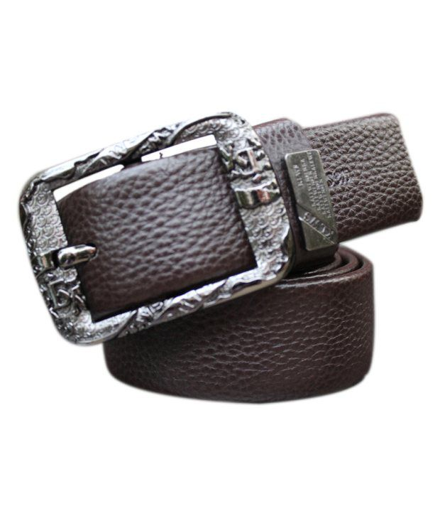 WINSOME DEAL Brown Casual Single Belt ForMen No