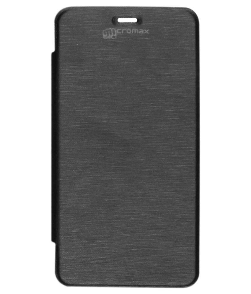 new style 9aff3 4e340 Dmg Flip Cover For Micromax Unite 2 A106 - Black