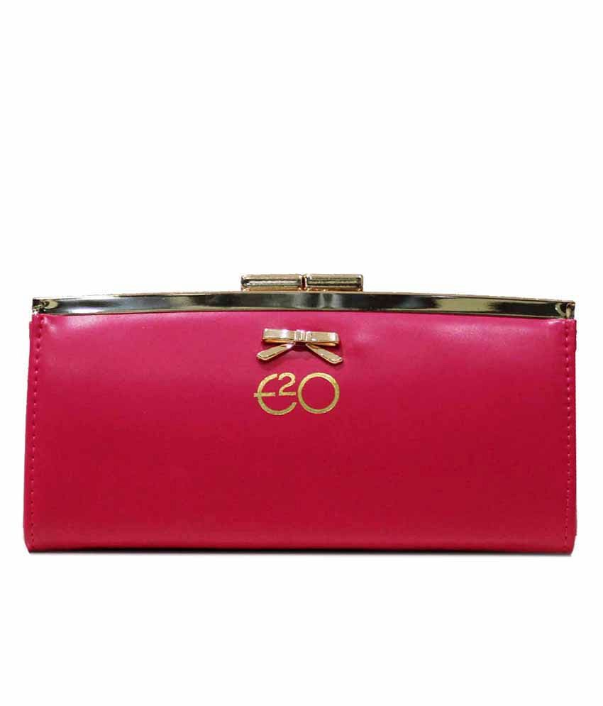 E2O Leather Pink Women Regular Wallet
