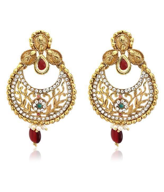 Ethnic Jewels Beguiling Kundan Earrings
