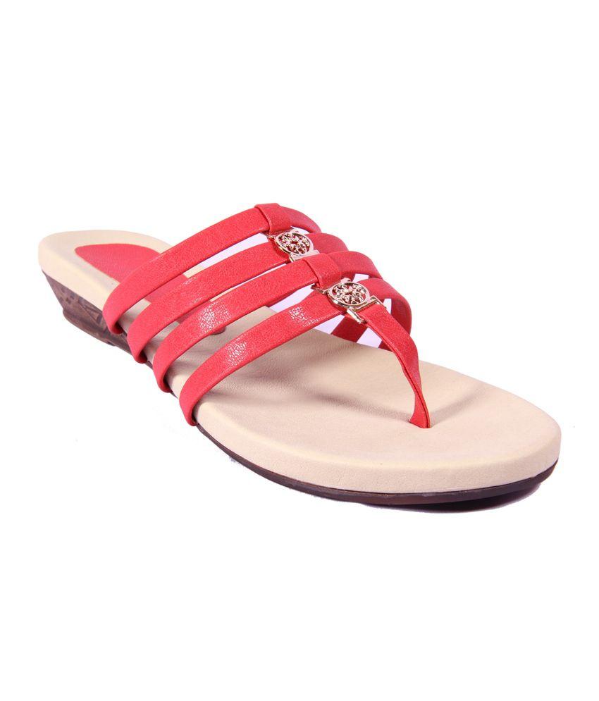 Foot Step Red Women Sleeper