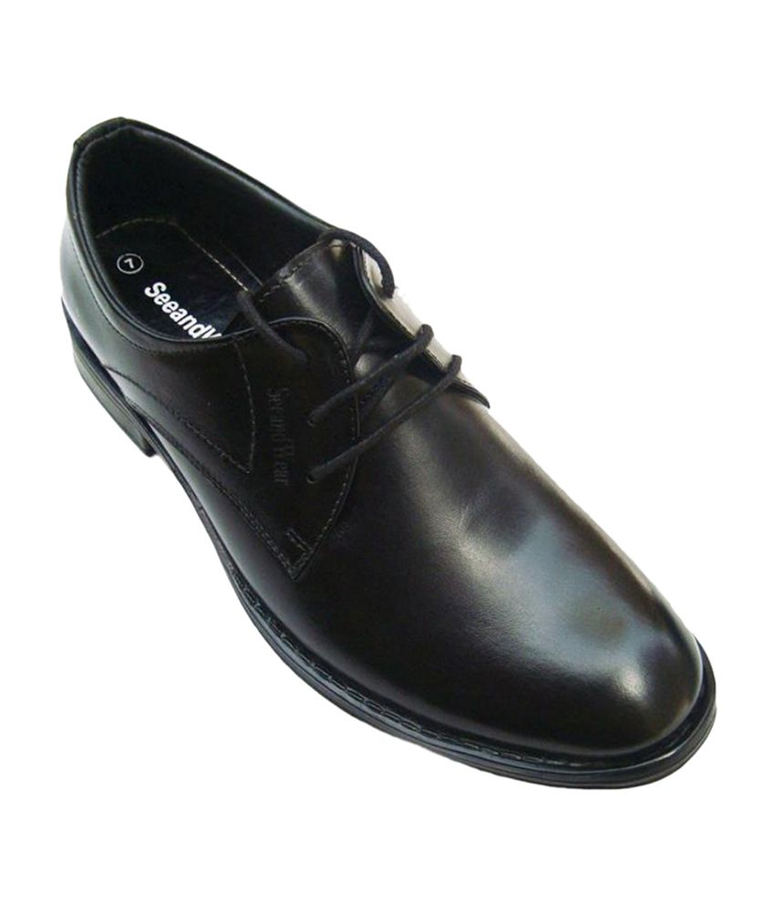 829253128d SeeandWear Black Formal Shoes Price in India- Buy SeeandWear Black Formal  Shoes Online at Snapdeal