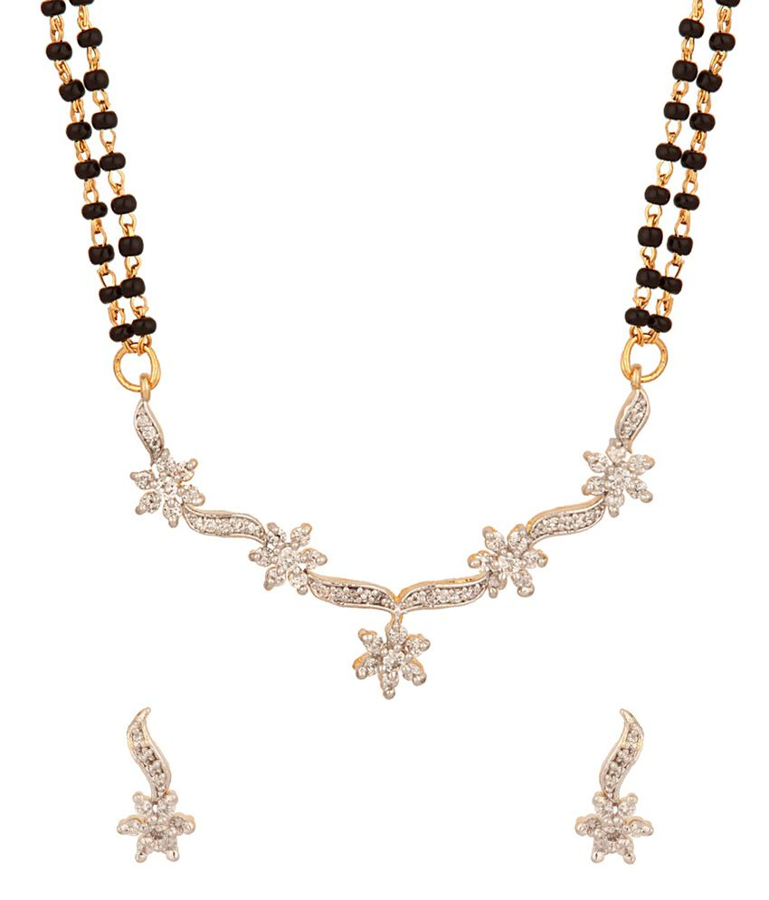 Voylla Double Chain Mangalsutras With Floral Design