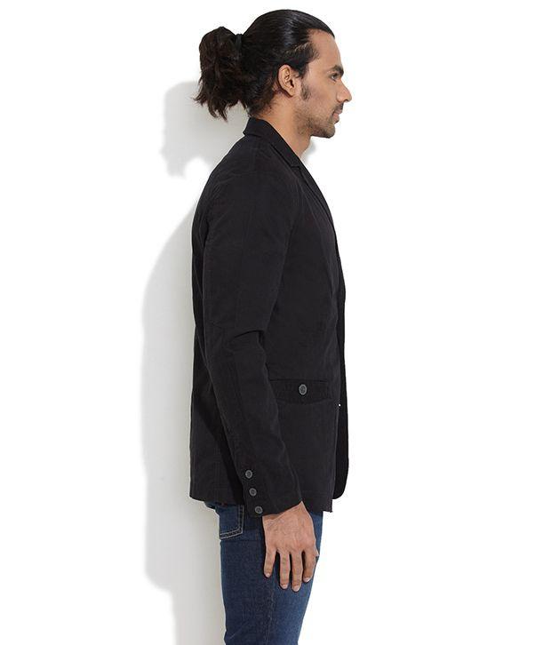 ae0d28ea698 Black Semi-Formal Blazer - Buy Black Semi-Formal Blazer Online at ...