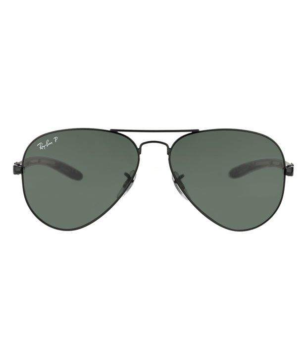 price ray ban aviator  Ray-Ban Green Polarized Aviator Sunglasses (RB8307 002/N5 58-14 ...