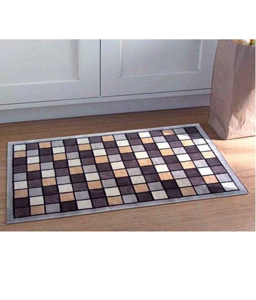Riva carpets brown gray geometrical checkerboard accent area rug medium buy riva carpets - Checkerboard area rug ...