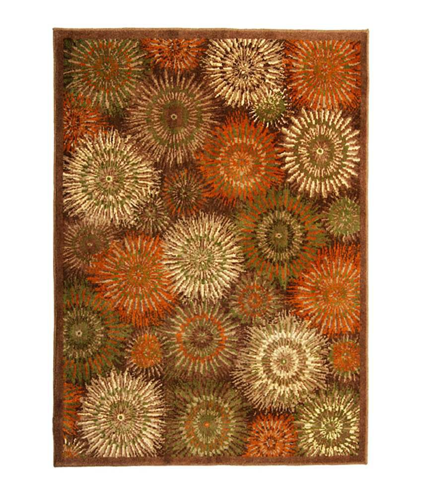Riva Carpets Orange Amp Green Abstract Sydney Area Rug