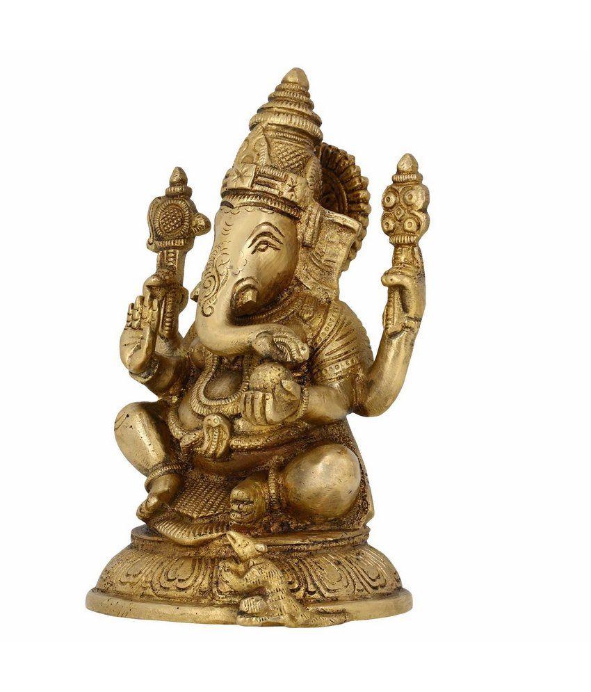 Shalinindia Hindu God Statues Ganesh Indian