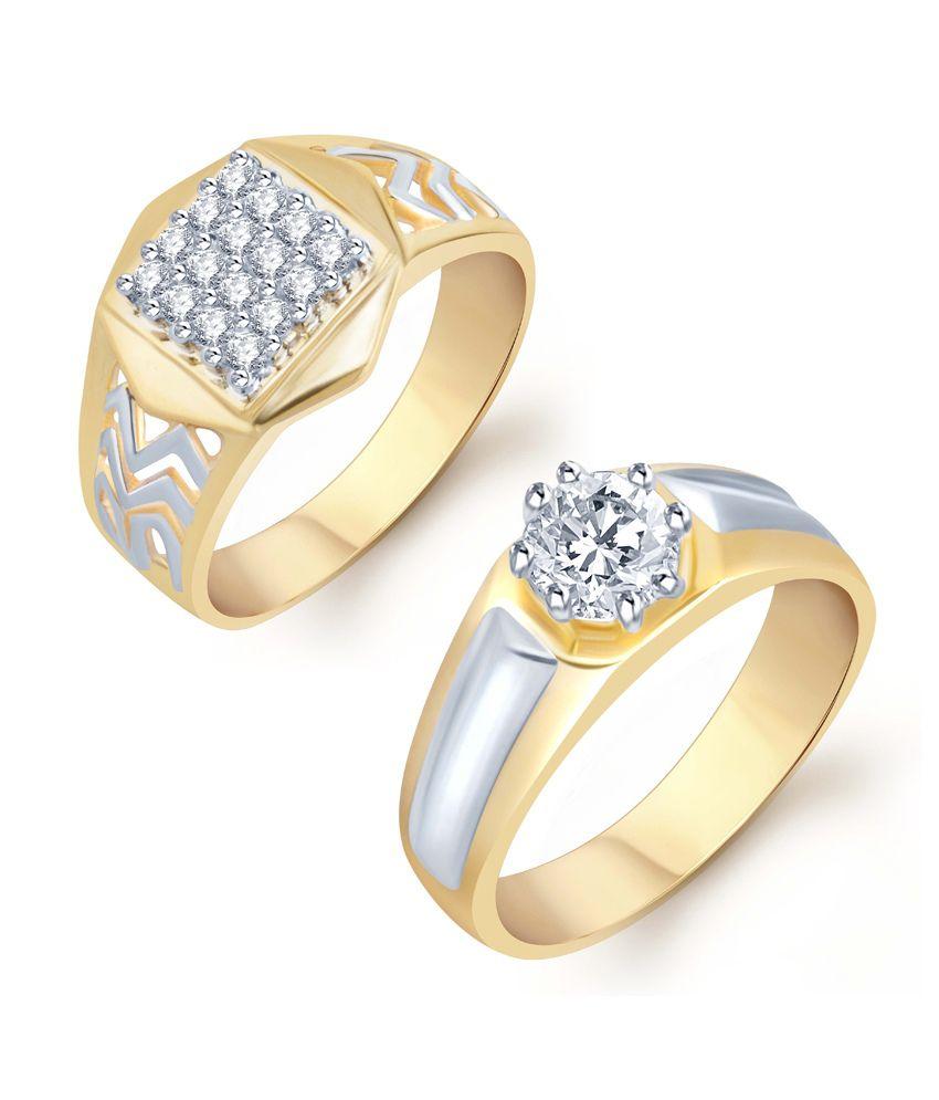 Sukkhi Charming 2 Piece Ring Combo for Men