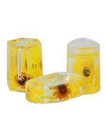 Acroset Yellow Acrylic Bathroom Set (3 Pcs)