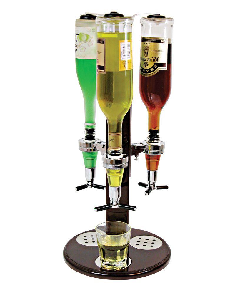 Ava Merchandising 3 Shot Drink Brown Glass Dispensor