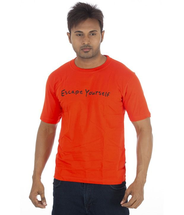 TSG Escape Orange Cotton  T-Shirt