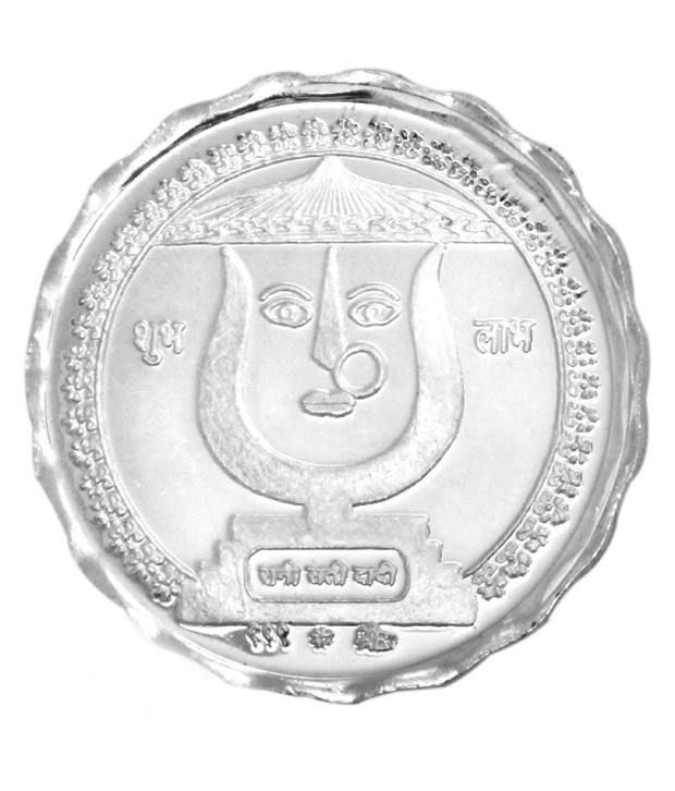 Prisha 10 gm 999 Purity Goddess Rani Sati Silver Coin