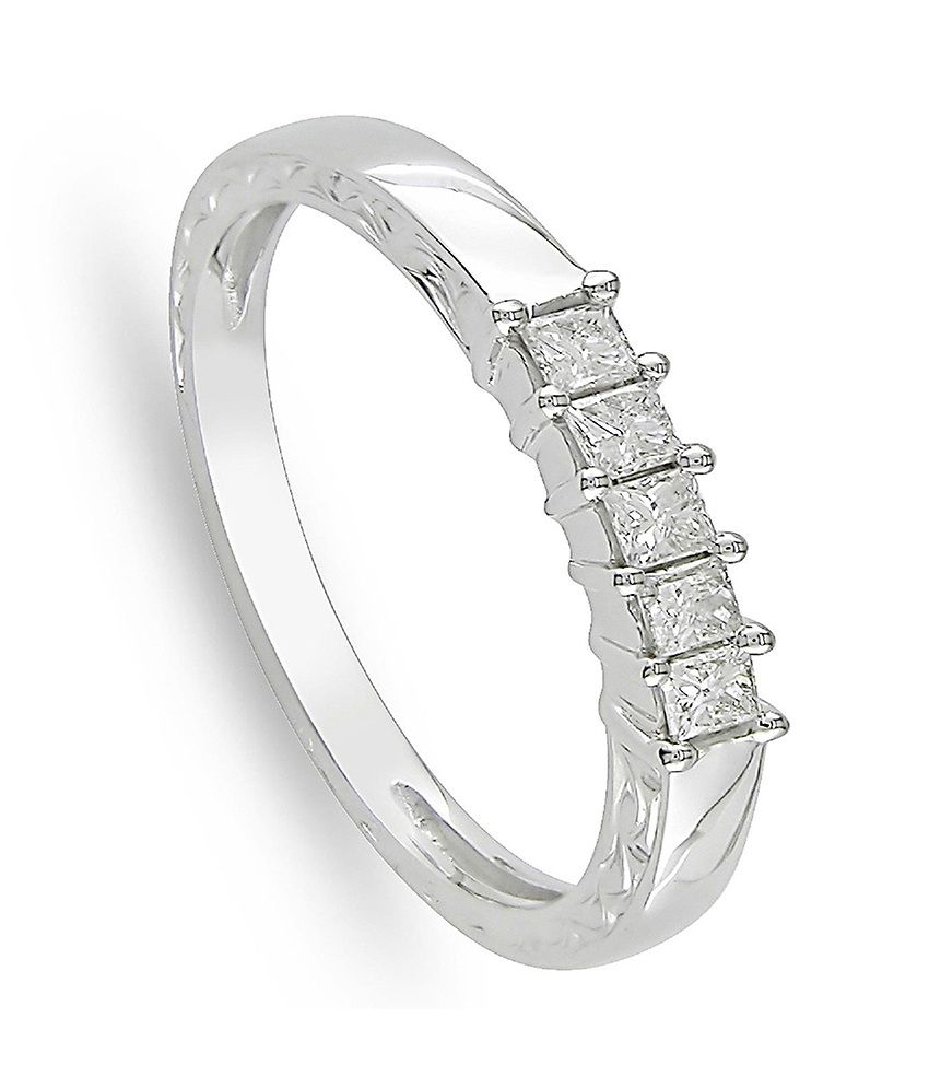 designer silver and diamond studded ring for women