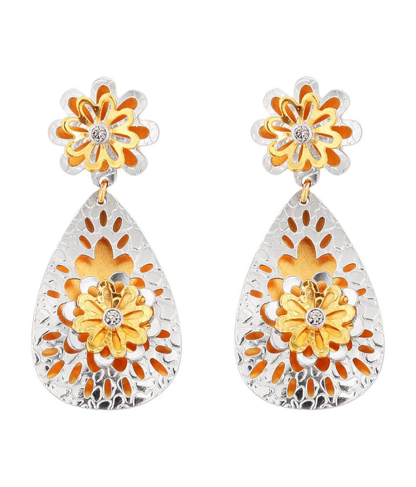 Santushti Jewels 22Kt Gold Floral HangingEarrings