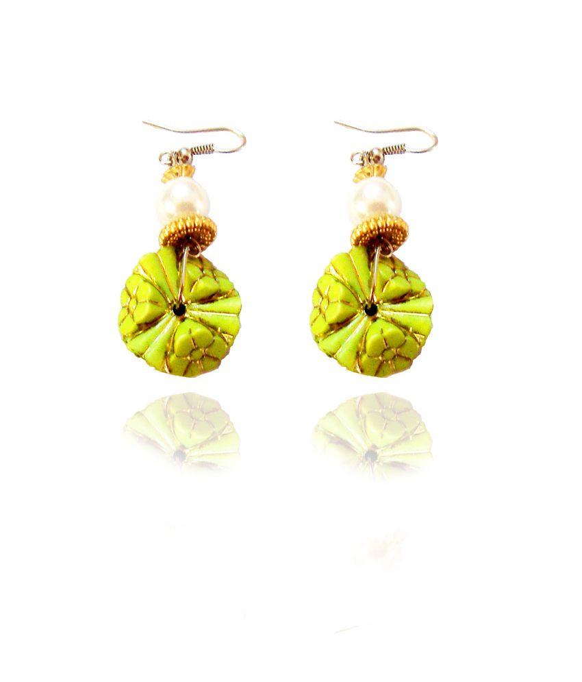 Beingwomen Green Hanging Earring