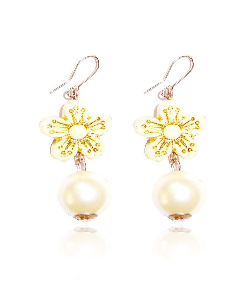 Beingwomen White Hanging Earring