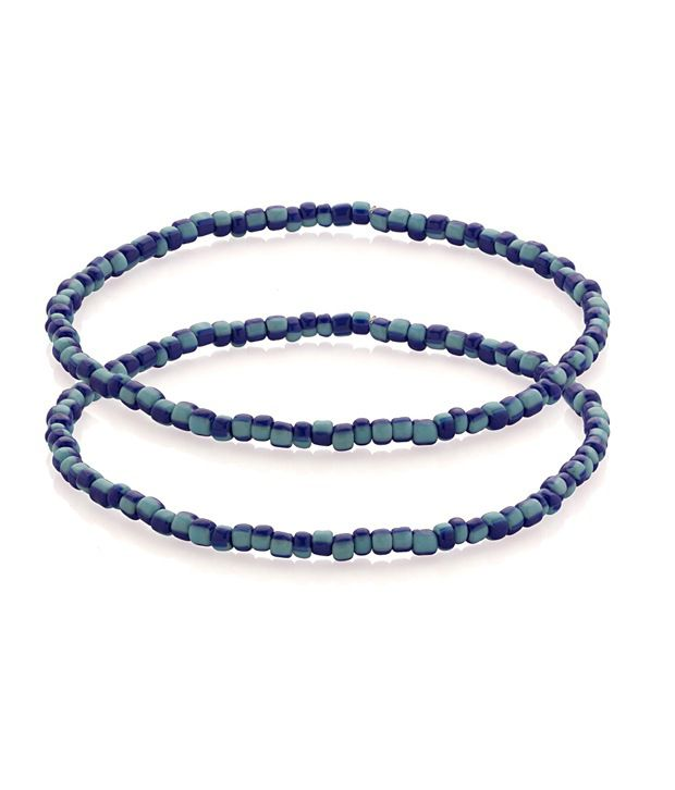 Voylla Anklets With Blue Beads Bringing Sky To Your Feet