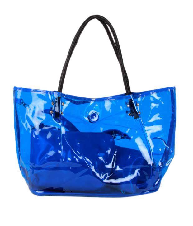 1 Bolzo Blue Tote Bag, Pouch & Sling Bag Set