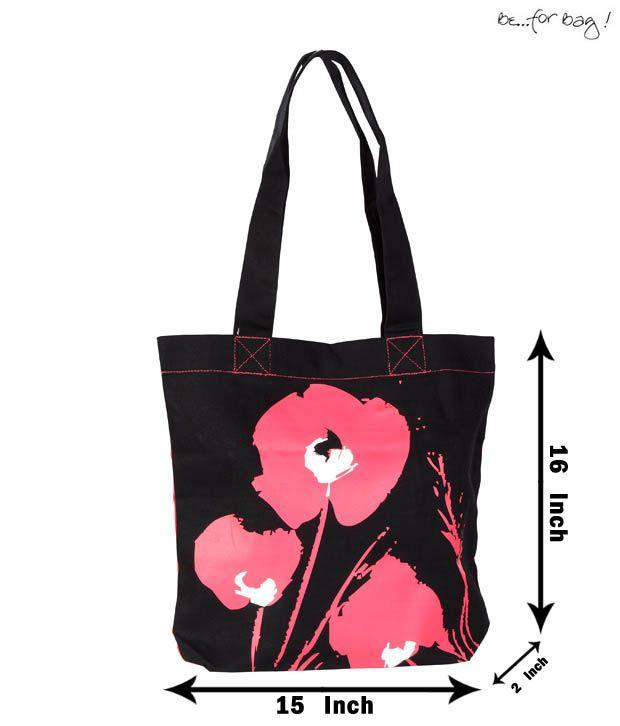 Be For Bag Contemporary Black & Pink Handbag