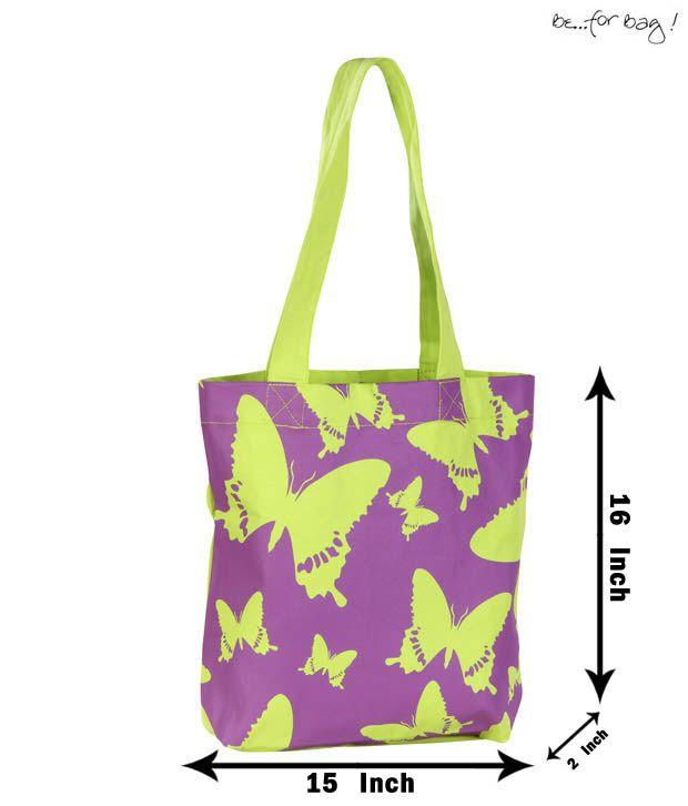 Be For Bag Perky Purple & Green Handbag