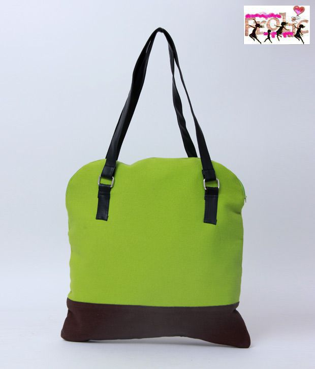 Frolic Classy Lime & Brown Tote Bag