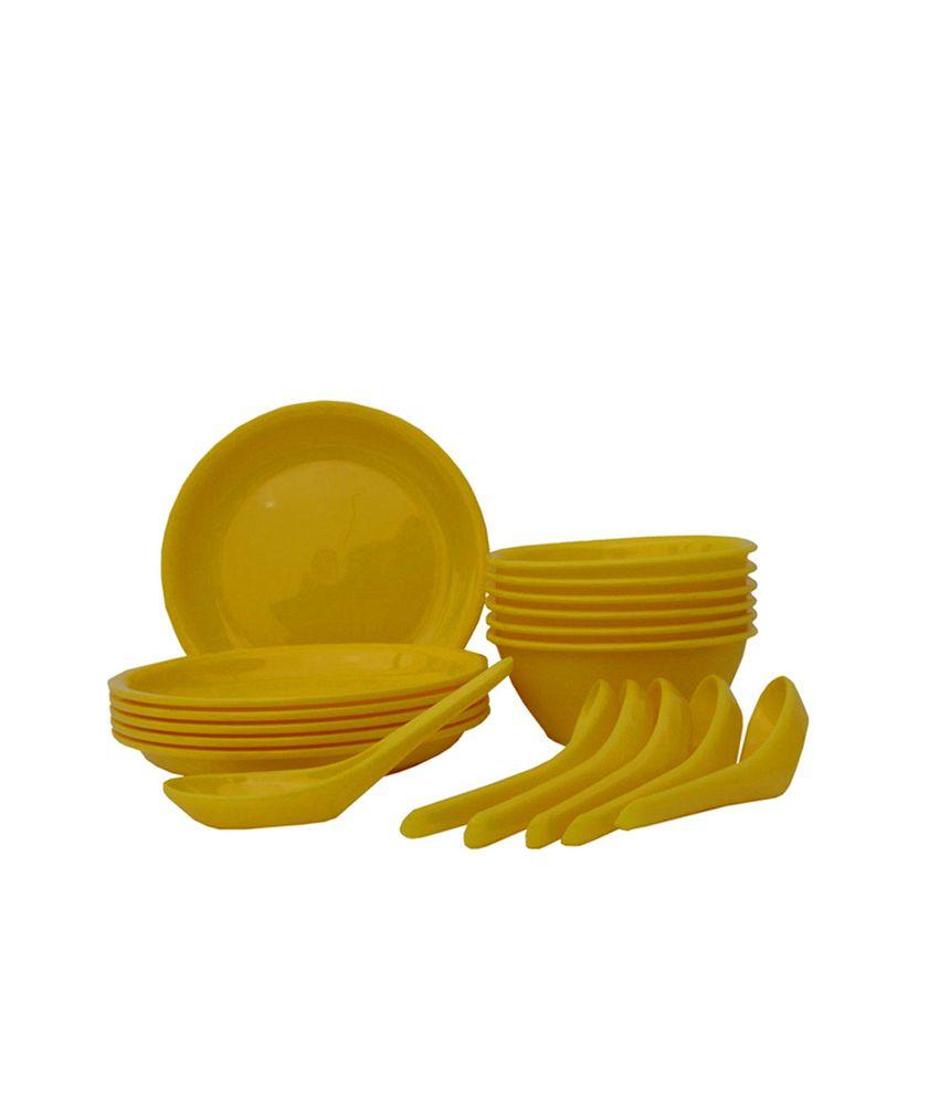 INCRIZMA Yellow Polypropylene  PP  Soup Set  18 Pcs