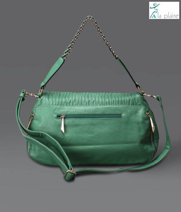 La Plaire Sea Green Handbag