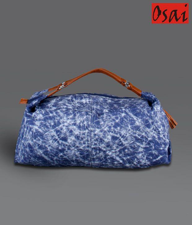 Osai Blue Tie & Dye Handbag
