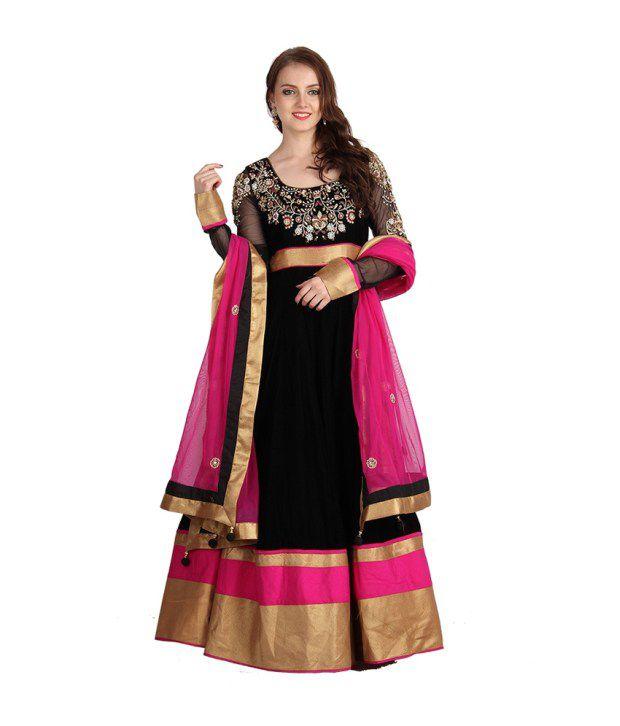 Asma Black Handcrafted Others Stitched Anarkali  Salwar Suit