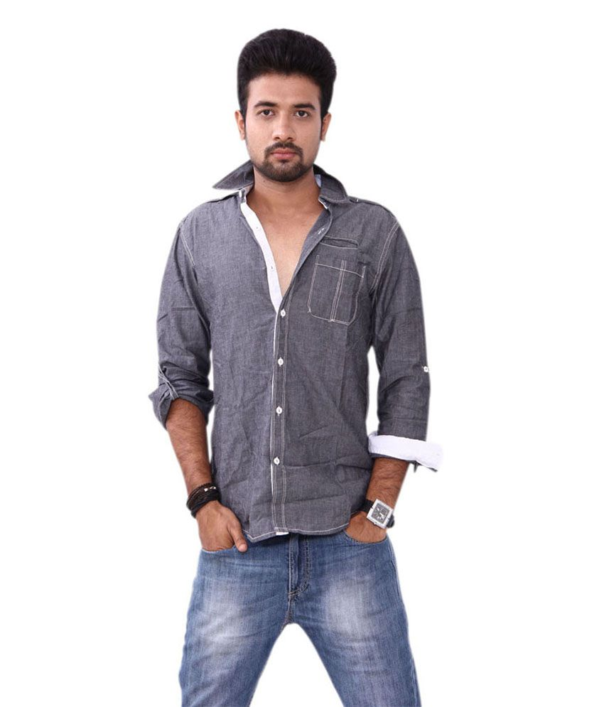 Bleu Men S Denim Shirt Buy Bleu Men S Denim Shirt Online At Best