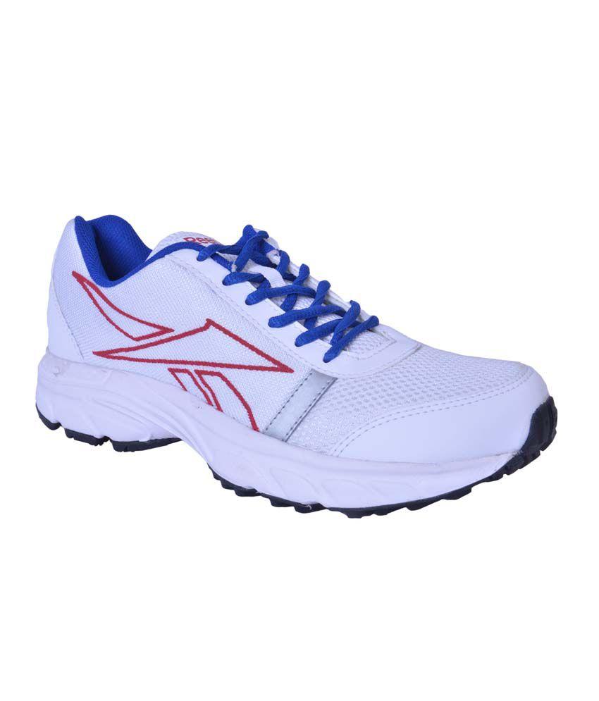 Rbk M44261 Wht Blu Red Men Sports Shoes