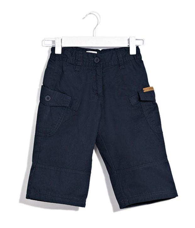 Scullers Kids Blue Shorts  For Girls